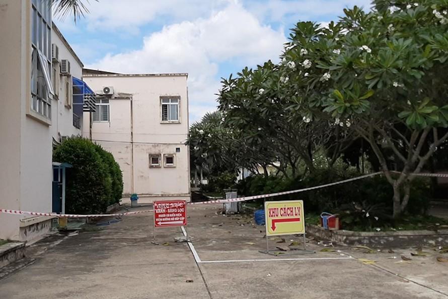 Khu vực bệnh nhân 1440 đang điều trị tại Bệnh viện Lao và bệnh Phổi tỉnh Vĩnh Long.