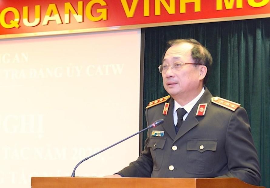 Thượng tướng Nguyễn Văn Thành phát biểu tại Hội nghị.