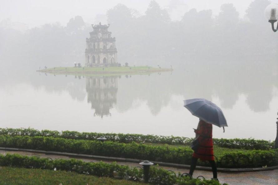 Theo dự báo, từ đêm 3/3 đến 13/3 nhiều khu vực trên phạm vi cả nước, trong đó có thủ đô Hà Nội có mưa nhỏ, mưa phùn.(Ảnh minh họa)