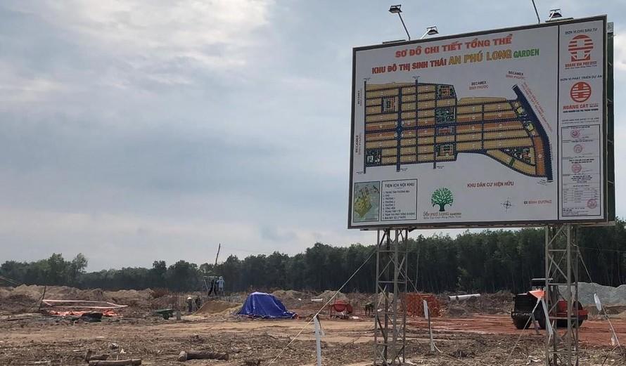 Bình Dương xử phạt CĐT dự án An Phú Long Garden vì xây không phép
