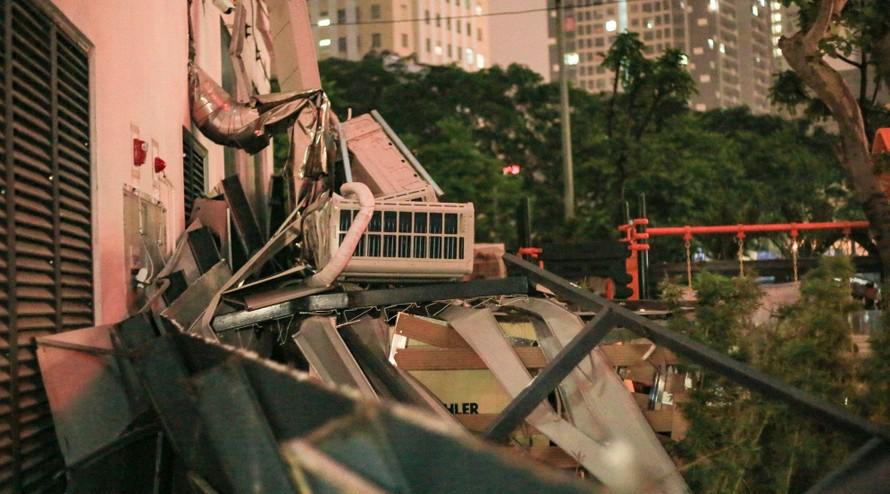 Bộ Xây dựng lên tiếng về vụ sập giàn điều hoà ở toà nhà An Bình Plaza