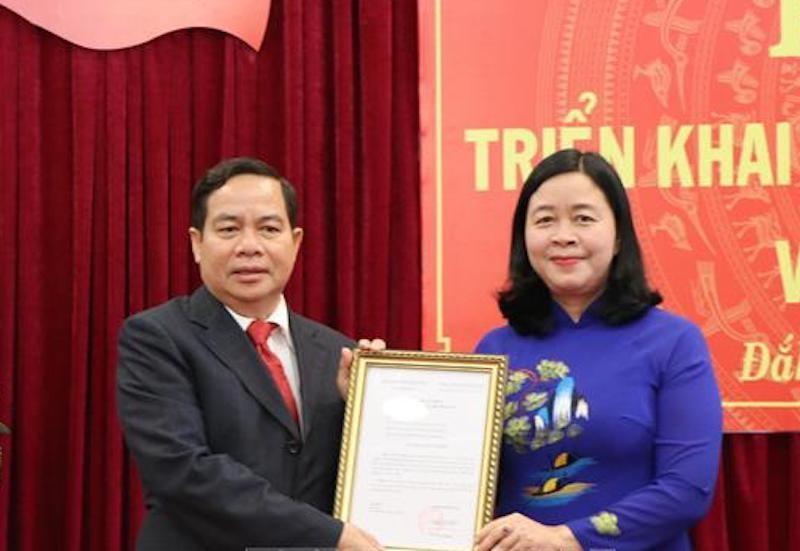Điều động, phân công Phó Bí thư tỉnh uỷ tỉnh Đắk Nông