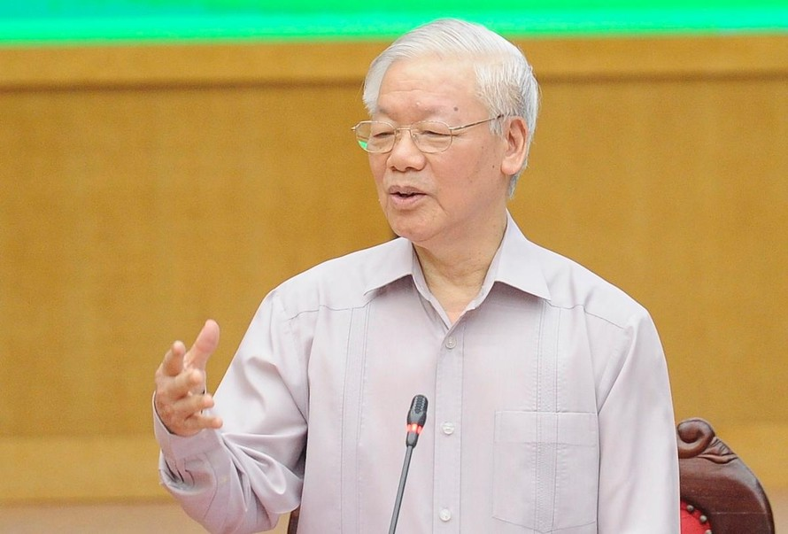 Tổng Bí thư Nguyễn Phú Trọng tiếp xúc cử tri, vận động bầu cử tại Hà Nội