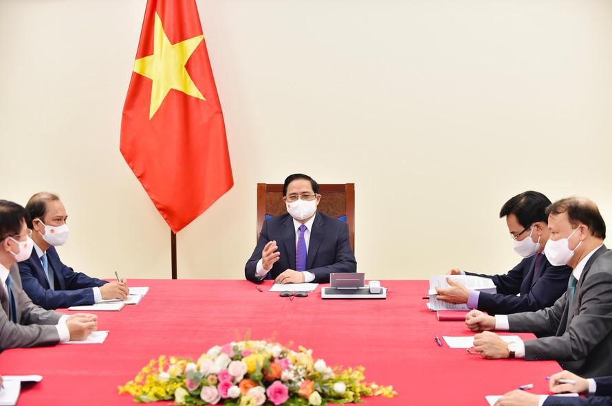 Thủ tướng Phạm Minh Chính chúc mừng những thành công của Canada trong ứng phó dịch COVID-19; thay mặt nhân dân Việt Nam bày tỏ cảm ơn Chính phủ và nhân dân Canada đã có những hỗ trợ thiết thực cho Việt Nam