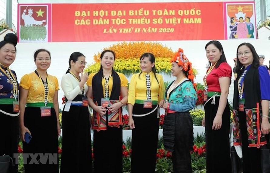 Các đại biểu dự Đại hội đại biểu toàn quốc các dân tộc thiểu số Việt Nam lần thứ II năm 2020.
