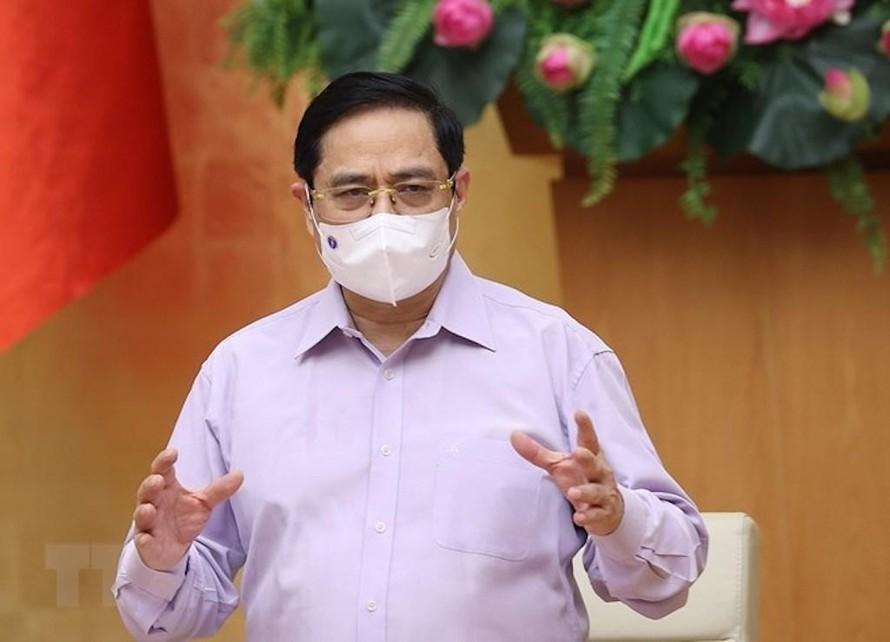 Thủ tướng Phạm Minh Chính chủ trì Hội nghị trực tuyến toàn quốc về phòng, chống dịch COVID-19.