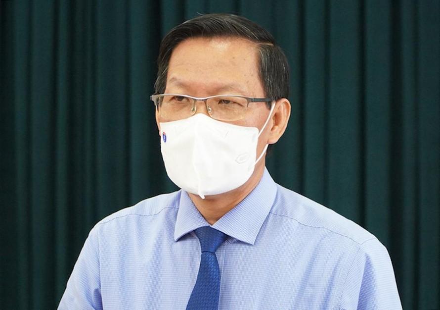 Tân Chủ tịch UBND TP.HCM Phan Văn Mãi trả lời báo chí vào trưa ngày 24/8.