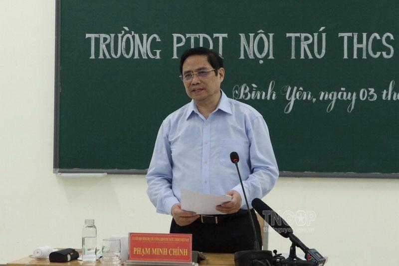 Thủ tướng Chính phủ Phạm Minh Chính thăm, làm việc tại tỉnh Thái Nguyên