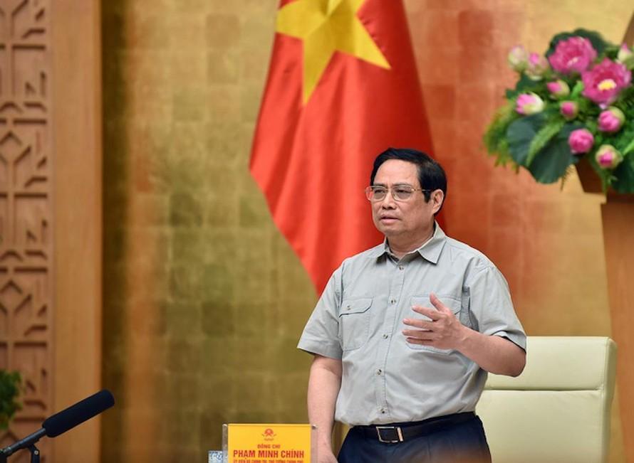 Thủ tướng Phạm Minh Chính chủ trì họp trực tuyến Ban chỉ đạo quốc gia phòng chống Covid-19 với các địa phương, sáng 25/9.
