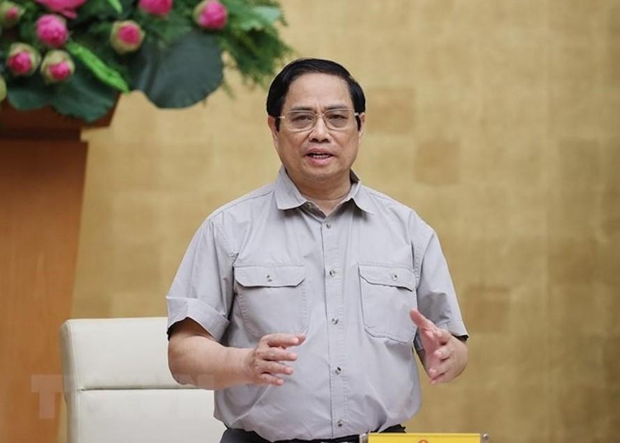 Thủ tướng Chính phủ Phạm Minh Chính chủ trì cuộc họp.