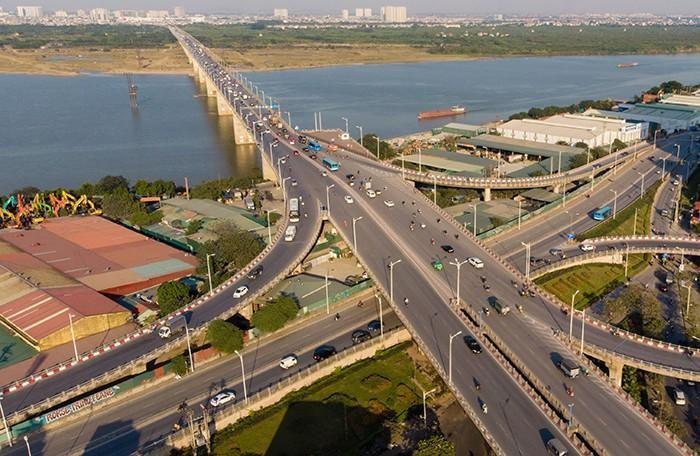 Cầu Vĩnh Tuy 2 khi hoàn thành hứa hẹn sẽ tạo thành sự bứt phá cho hạ tầng khu vực phía Đông Hà Nội (nguồn ảnh: An ninh thủ đô)