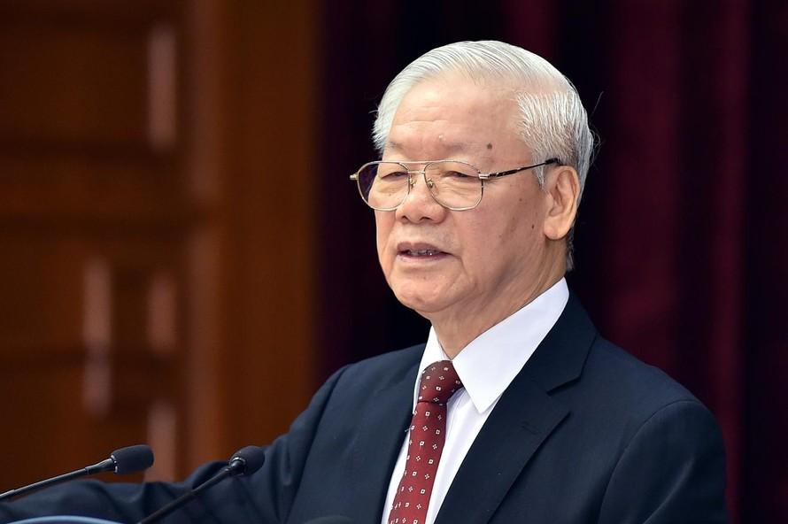 Tổng Bí thư Nguyễn Phú Trọng phát biểu bế mạc Hội nghị lần thứ tư BCH Trung ương Đảng khóa XIII