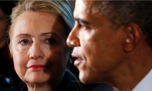 Hillary Clinton và Obama. Ảnh: Reuters