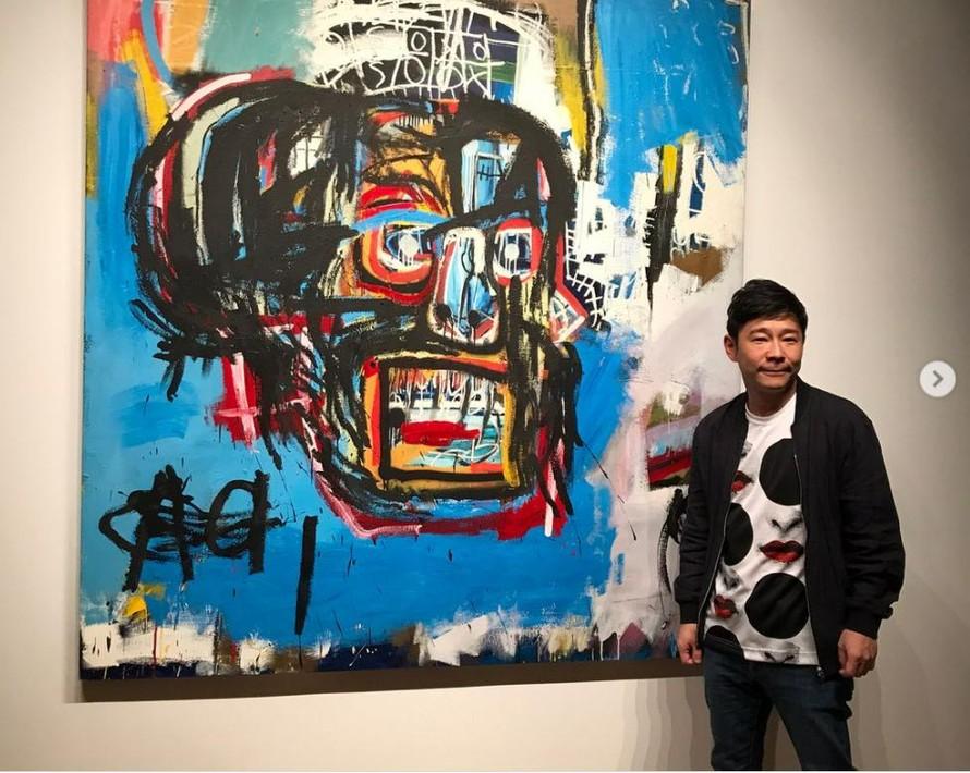 """Tỷ phú Yusaku Maezawa, người đã trả giá 110.5 triệu đô la cho bức """"Untitled"""" của Basquiat (Ảnh: Yusaku2020)"""