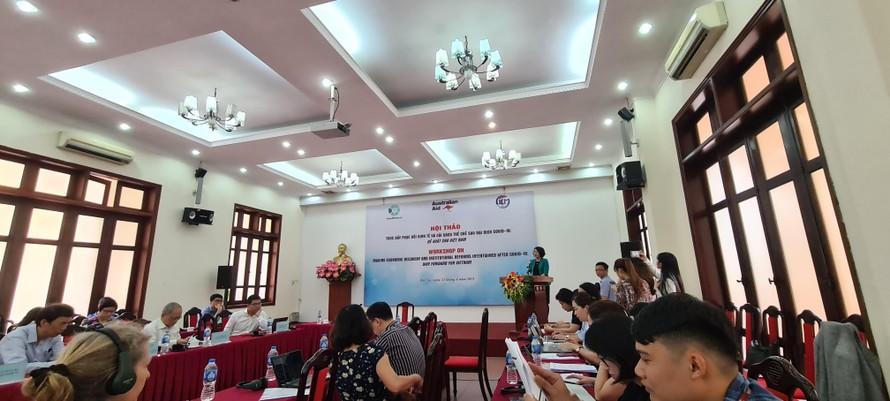 TS. Trần Thị Hồng Minh phát biểu khai mạc hội thảo