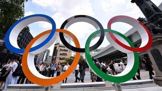 Biểu tượng Olympic Tokyo 2020. (Ảnh: Aflo/Shutterstock)