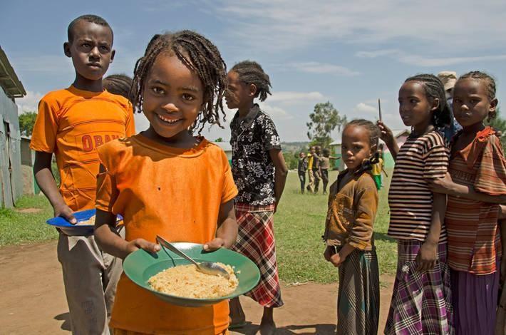 Trẻ em ở Ethiopia (Ảnh: FAO)