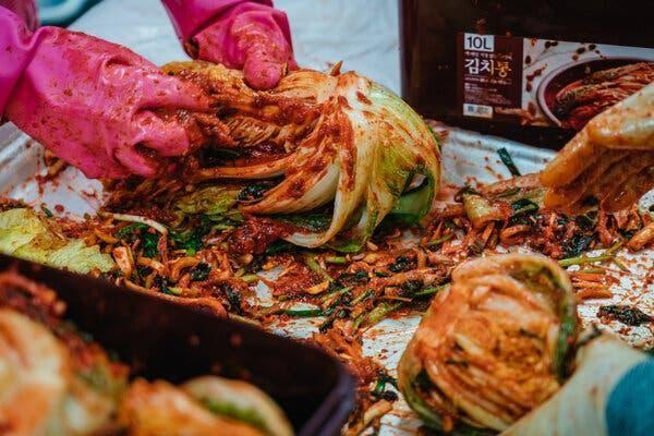 Ảnh chụp tại Lễ hội Kim Chi Goesan, Hàn Quốc (Ảnh: New York Times)