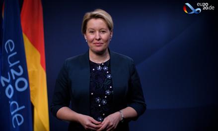 Bà Franziska Giffey - Bộ trưởng Bộ Gia đình Đức (Ảnh: Council of Europe)