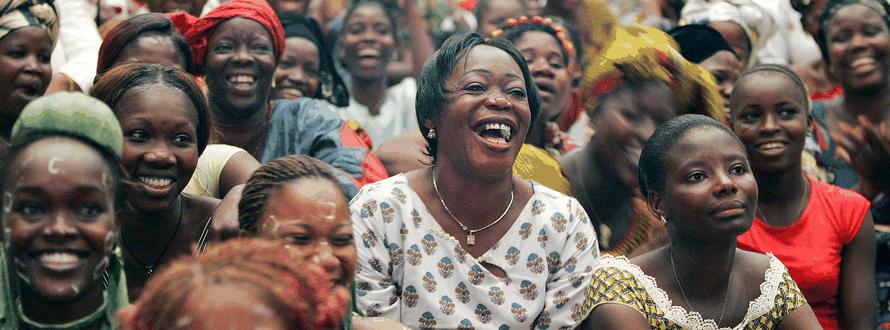 Phụ nữ từ khắp Côte d'Ivoire tụ họp để kỷ niệm Ngày Quốc tế Phụ nữ tại Palais de la Culture ở Abidjan. (Ảnh: UN/Ky Chung)