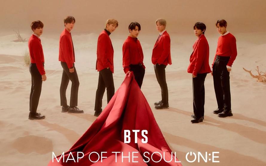 Buổi hòa nhạc trực tuyến Map of the soul ON:E của BTS tháng 10/2020 đã thu hút 993.000 người xem trả phí tử 191 quốc gia.