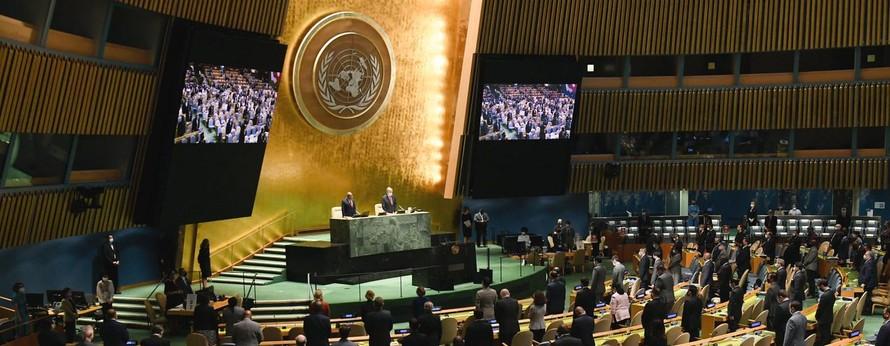 Một số nhà lãnh đạo thế giới sẽ trực tiếp có bài phát biểu tại Hội trường Đại hội đồng Liên Hợp Quốc, nhưng dự kiến đa số sẽ không đến New York. Ảnh: Evan Schneider