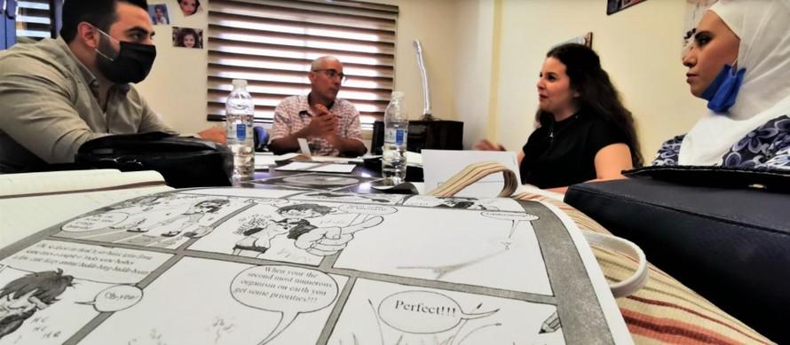 Sử dụng truyện tranh trong giáo dục cơ bản cho thanh thiếu niên tị nạn Syria