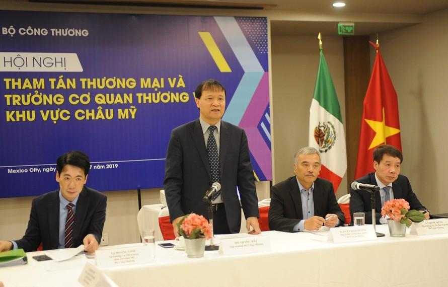 Thứ trưởng Đỗ Thắng Hải phát biểu tại hội nghị. (Ảnh: Việt Hùng-Bảo Trung/Vietnam+)