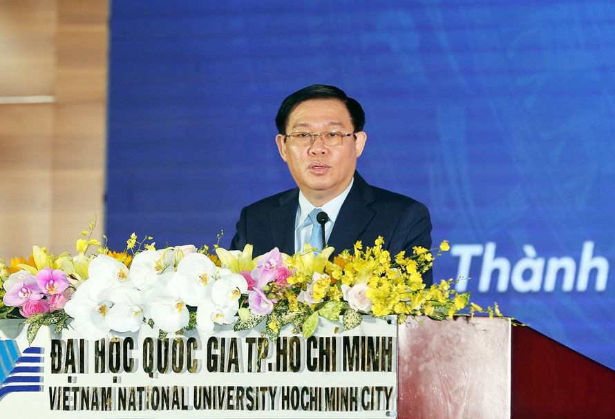 Phó Thủ tướng Vương Đình Huệ phát biểu tại buổi lễ. Ảnh: VGP/Thành Chung