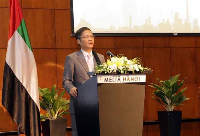 Bộ trưởng Công Thương Việt Nam Trần Tuấn Anh phát biểu tại diễn đàn. Ảnh: Trần Việt/TTXVN.
