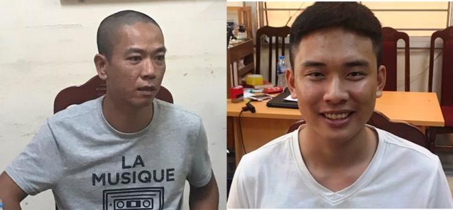 Phùng Hữu Mạnh (trái) và Hoàng Ngọc. Ảnh: Công an cung cấp.