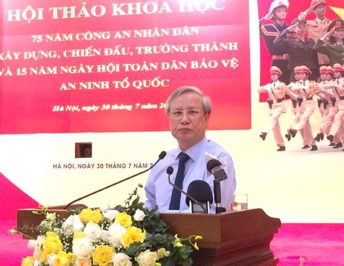 Đồng chí Trần Quốc Vượng, Ủy viên Bộ Chính trị, Thường trực Ban Bí thư phát biểu chỉ đạo tại Hội thảo. Ảnh: VGP/Nguyễn Hoàng