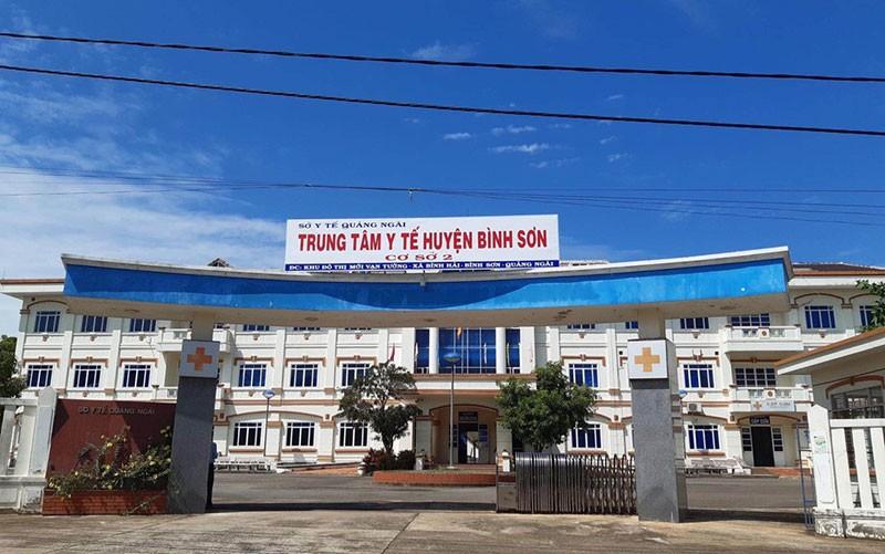Cơ sở 2, Trung tâm Y tế huyện Bình Sơn, nơi BN590 đang điều trị - Ảnh: Báo Nhân dân
