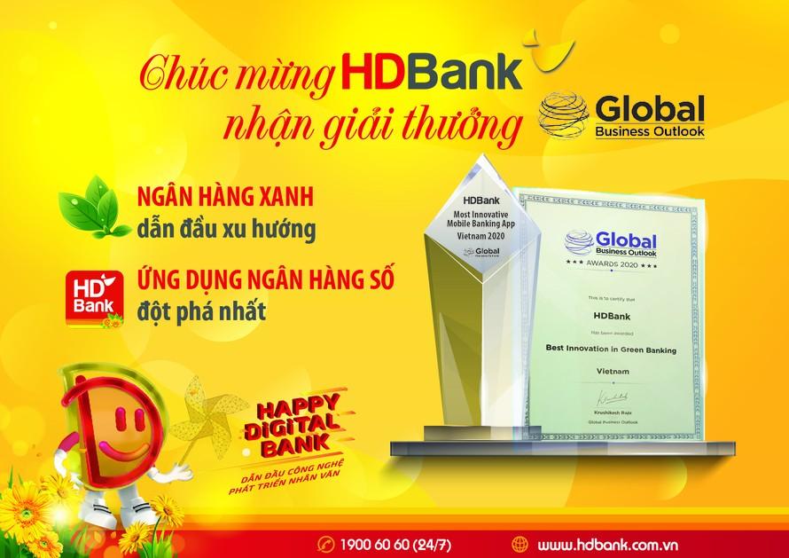 HDBank nhận giải Triển vọng Kinh doanh Toàn cầu năm 2020