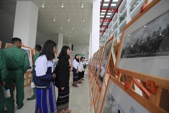 Không gian triển lãm -Ảnh: Công an Nhân dân