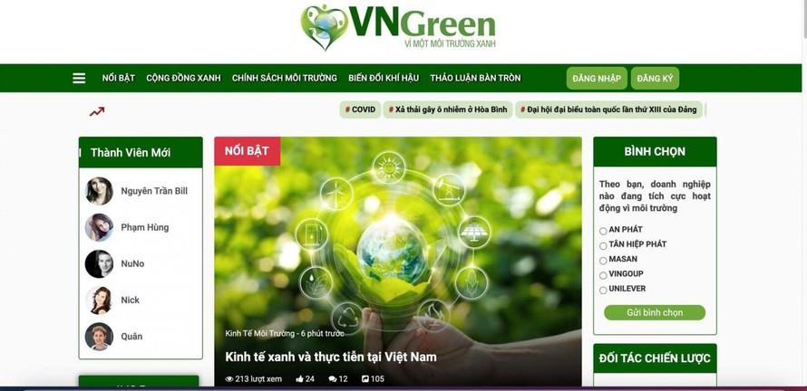 Vngreen - Mạng xã hội vì một Việt Nam xanh