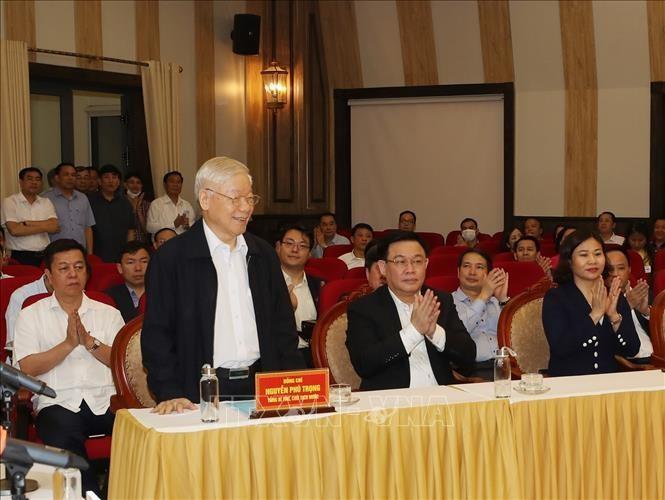 Tổng Bí thư, Chủ tịch nước Nguyễn Phú Trọng tại Hội nghị.