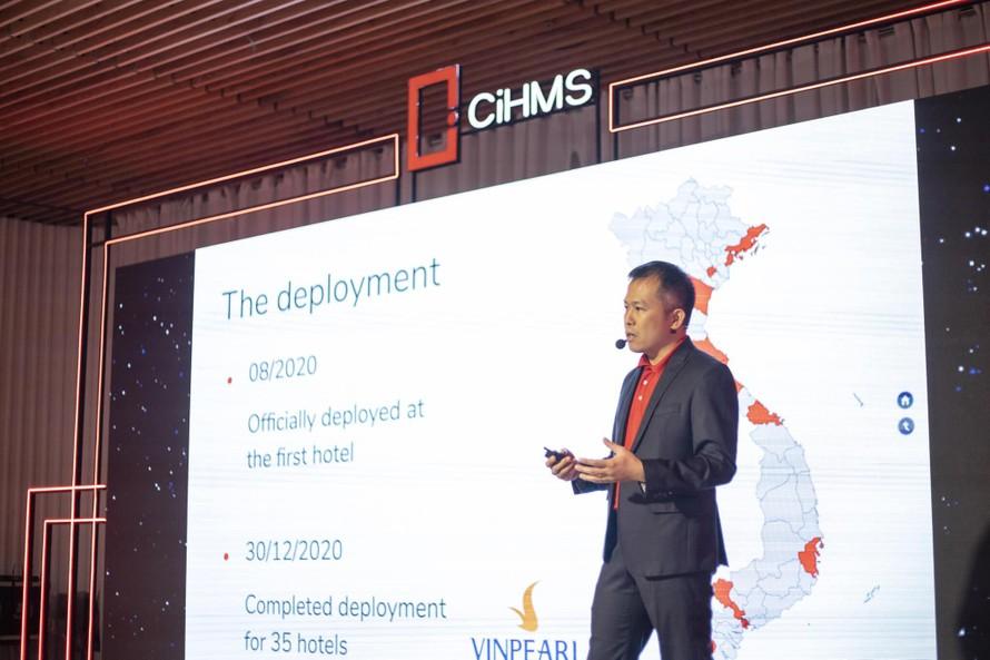 Tổng Giám đốc VinHMS ông Nguyễn Văn Hoàng phát biểu tại sự kiện