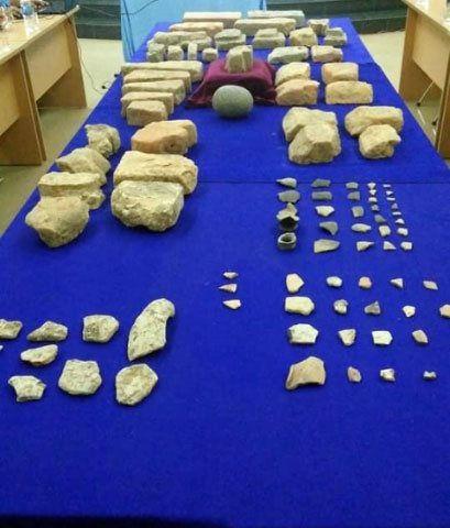 Một số hiện vật khai quật tại di tích được khai quật lần 1 - Ảnh: Công lý
