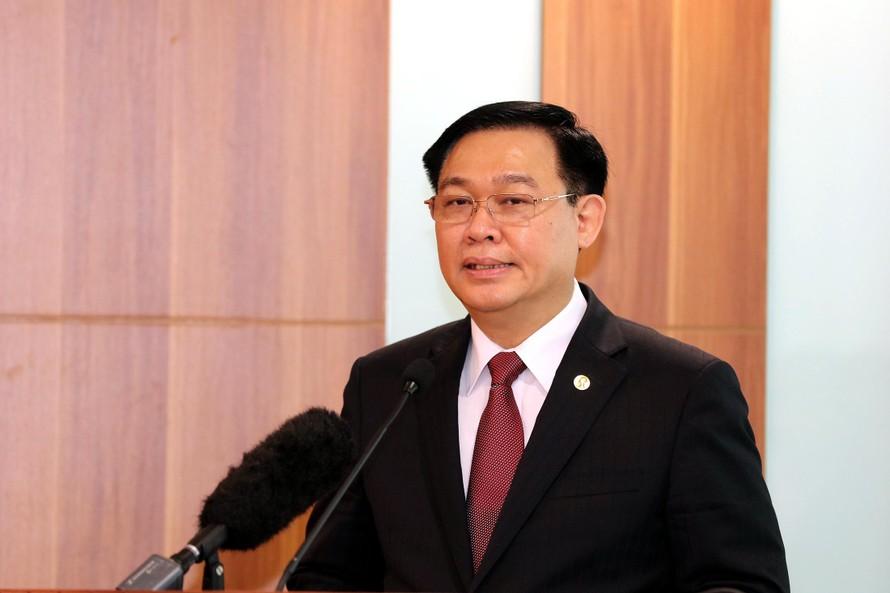 Chủ tịch Quốc hội Vương Đình Huệ phát biểu tại Hội nghị - Ảnh: VGP/Nhật Bắc