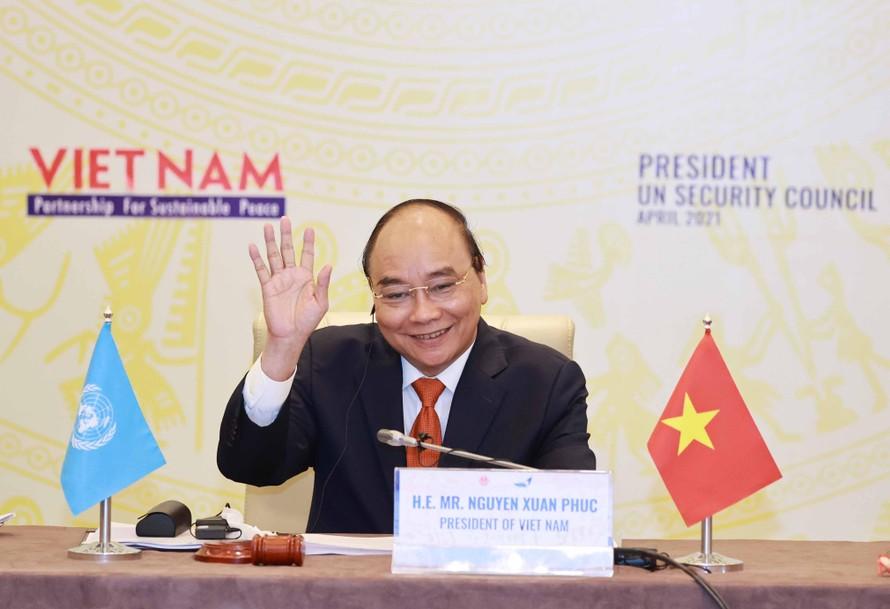 Chủ tịch nước Nguyễn Xuân Phúc chủ trì Phiên thảo luận Cấp cao của Hội đồng Bảo an Liên Hợp Quốc, ngày 19/4.