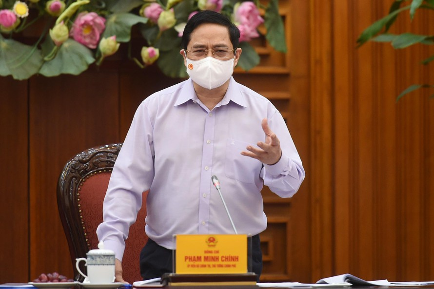 """Thủ tướng Phạm Minh Chính: """"Một trong những nguồn lực bên trong rất quan trọng là giá trị con người Việt Nam, cơ chế, chính sách, đường lối, tổ chức, vận hành tốt hay xấu đều do yếu tố con người quyết định. Ảnh: VGP"""