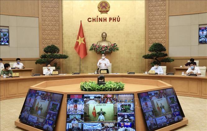 Thủ tướng Phạm Minh Chính phát biểu chỉ đạo. Ảnh: Lâm Khánh/TTXVN