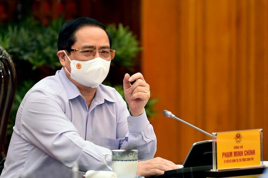 Thủ tướng Chính phủ Phạm Minh Chính phát biểu tại cuộc làm việc. Thủ tướng yêu cầu, Bộ cần tập trung xây dựng chiến lược phát triển các ngành, lĩnh vực; đi kèm cơ chế, chính sách phù hợp, hiệu quả và nguồn lực thực hiện - Ảnh: VGP/Nhật Bắc