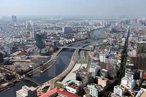 Một góc Thành phố Hồ Chí Minh, đầu tàu kinh tế của cả nước. Ảnh: TTXVN