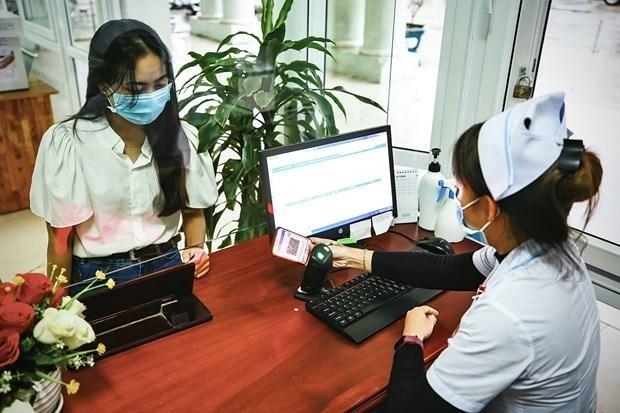 Trường hợp khám chữa bệnh sử dụng hình ảnh thẻ bảo hiểm y tế trên ứng dụng VssID. (Ảnh: PV/Vietnam+)
