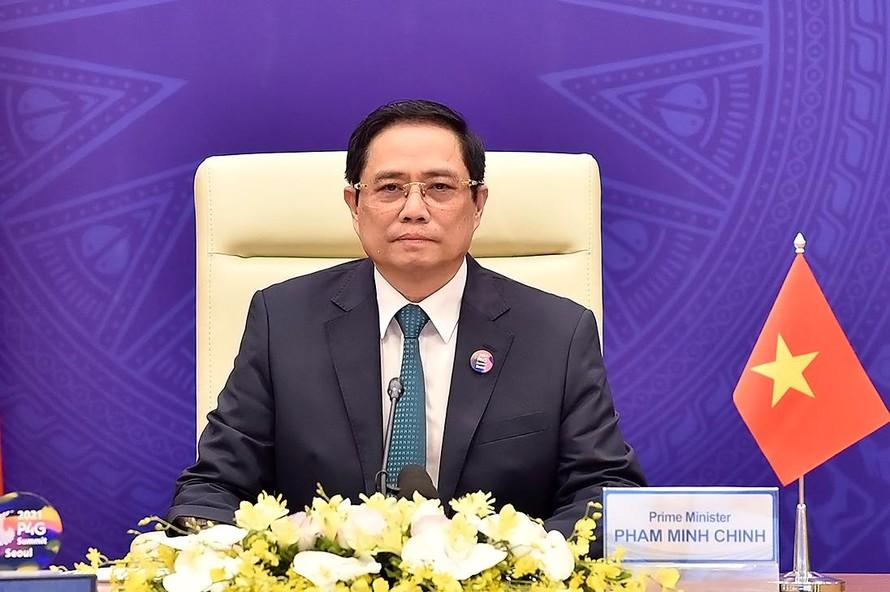 Thủ tướng Chính phủ Phạm Minh Chính dự và phát biểu tại Hội nghị Thượng đỉnh đối tác vì tăng trưởng xanh và mục tiêu toàn cầu 2030 (P4G).