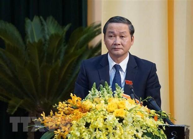Ông Đỗ Minh Tuấn, Phó Bí thư Tỉnh ủy, Chủ tịch Ủy ban Nhân dân tỉnh Thanh Hóa nhiệm kỳ 2016-2021. (Ảnh: Hoa Mai/TTXVN)