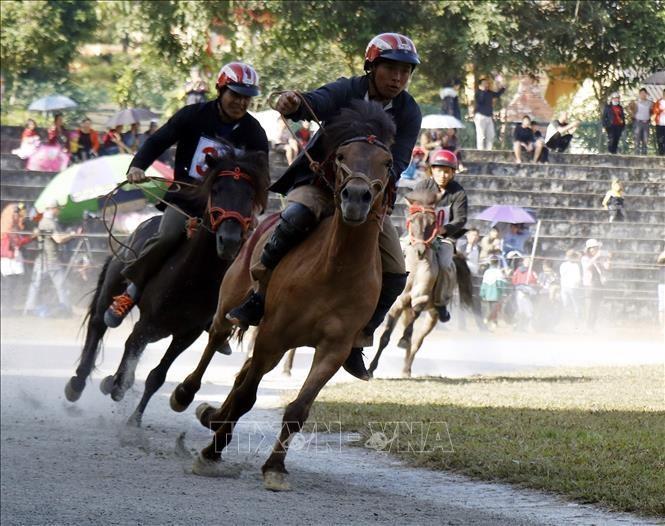 Giải đua ngựa xã Na Hối, huyện Bắc Hà mở rộng lần thứ nhất nằm trong hoạt động Lễ hội mùa đông Bắc Hà 2020. Ảnh minh họa: Quốc Khánh/TTXVN