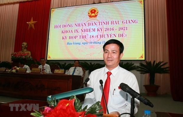 Ông Trần Văn Huyến - Chủ tịch Hội đồng Nhân dân tỉnh Hậu Giang khóa X. (Nguồn: TTXVN)